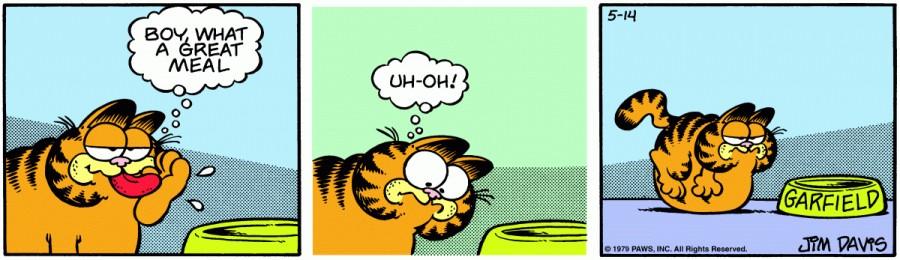 Оригинал комикса про Гарфилда от 14 мая 1979 года