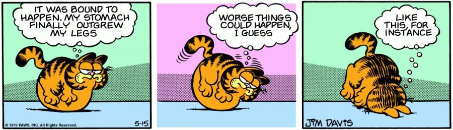 Оригинал комикса про Гарфилда от 15 мая 1979 года