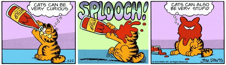 Оригинал комикса про Гарфилда от 22 мая 1979 года