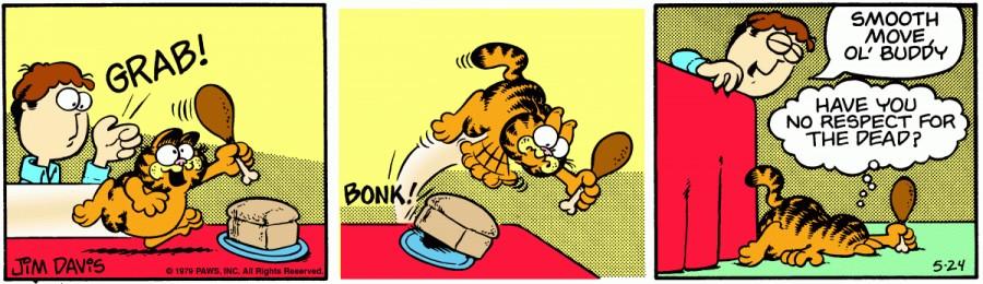 Оригинал комикса про Гарфилда от 24 мая 1979 года