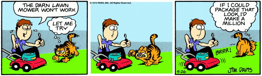 Оригинал комикса про Гарфилда от 26 мая 1979 года