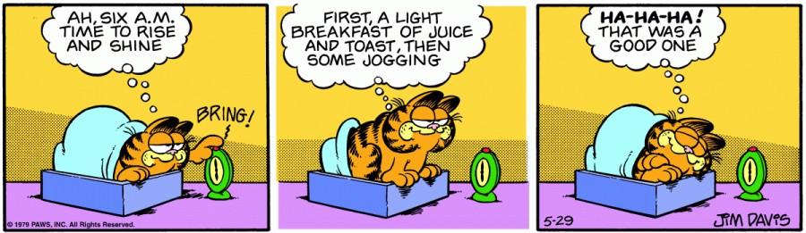 Оригинал комикса про Гарфилда от 29 мая 1979 года