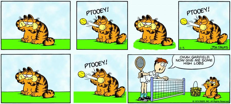 Оригинал комикса про Гарфилда от 03 июня 1979 года