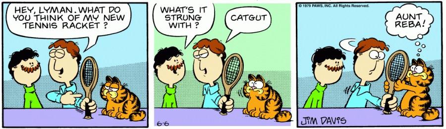 Оригинал комикса про Гарфилда от 06 июня 1979 года
