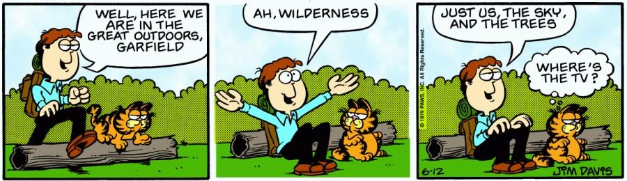 Оригинал комикса про Гарфилда от 12 июня 1979 года