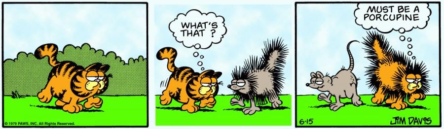 Оригинал комикса про Гарфилда от 15 июня 1979 года