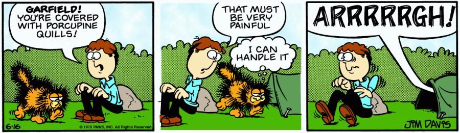 Оригинал комикса про Гарфилда от 16 июня 1979 года