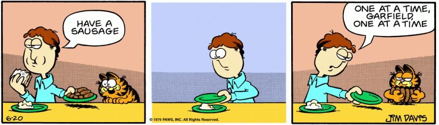 Оригинал комикса про Гарфилда от 20 июня 1979 года
