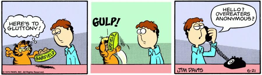 Оригинал комикса про Гарфилда от 21 июня 1979 года