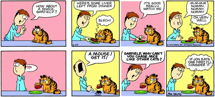 Оригинал комикса про Гарфилда от 24 июня 1979 года