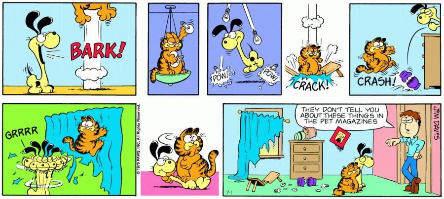 Оригинал комикса про Гарфилда от 01 июля 1979 года