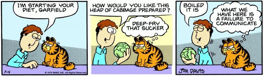 Оригинал комикса про Гарфилда от 04 июля 1979 года