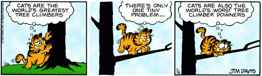 Оригинал комикса про Гарфилда от 09 июля 1979 года