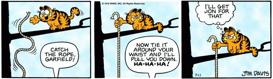 Оригинал комикса про Гарфилда от 11 июля 1979 года