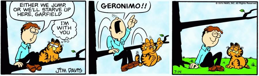 Оригинал комикса про Гарфилда от 14 июля 1979 года