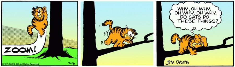 Оригинал комикса про Гарфилда от 16 июля 1979 года