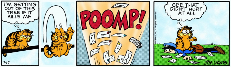 Оригинал комикса про Гарфилда от 17 июля 1979 года