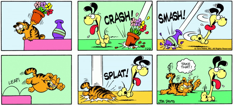 Оригинал комикса про Гарфилда от 29 июля 1979 года
