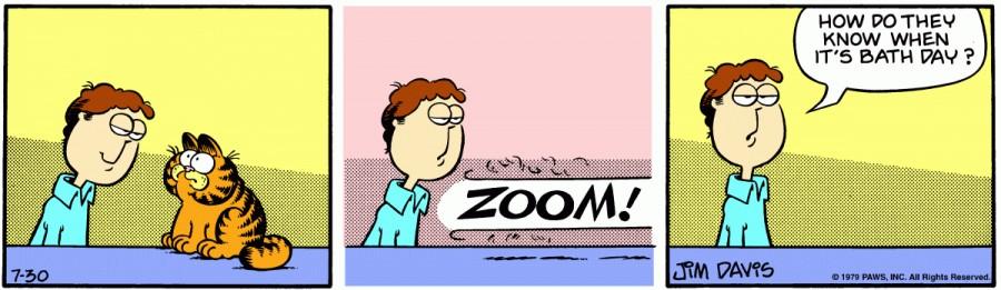 Оригинал комикса про Гарфилда от 30 июля 1979 года