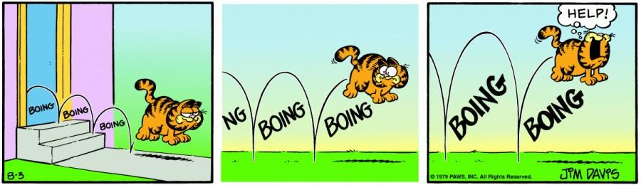 Оригинал комикса про Гарфилда от 03 августа 1979 года