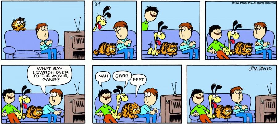 Оригинал комикса про Гарфилда от 05 августа 1979 года