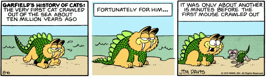 Оригинал комикса про Гарфилда от 06 августа 1979 года