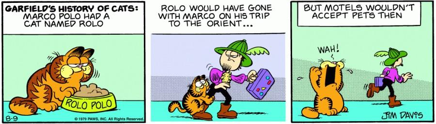 Оригинал комикса про Гарфилда от 09 августа 1979 года