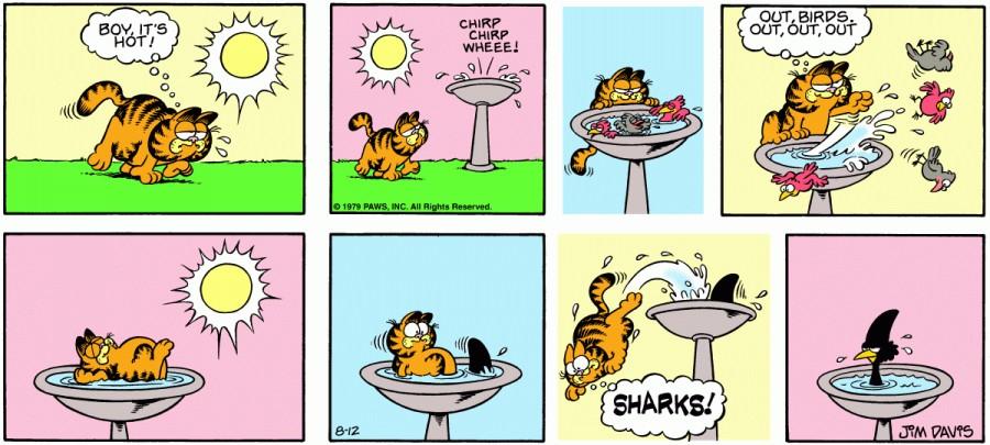 Оригинал комикса про Гарфилда от 12 августа 1979 года