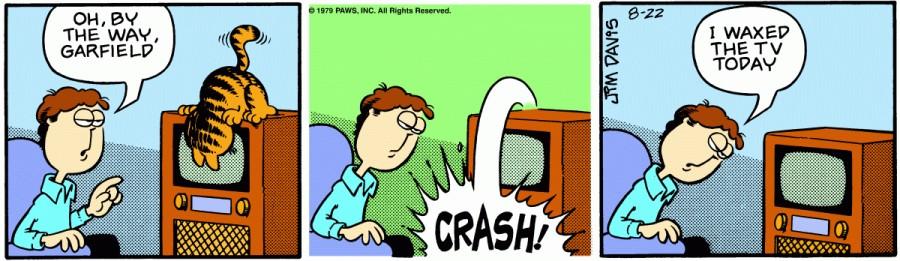 Оригинал комикса про Гарфилда от 22 августа 1979 года