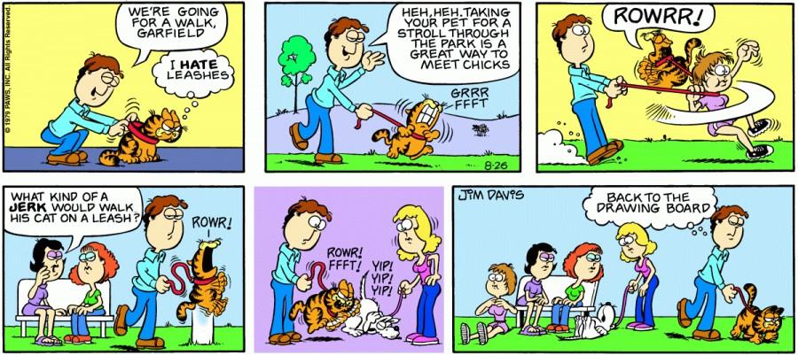 Оригинал комикса про Гарфилда от 26 августа 1979 года