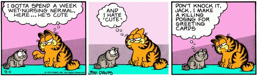 Оригинал комикса про Гарфилда от 04 сентября 1979 года