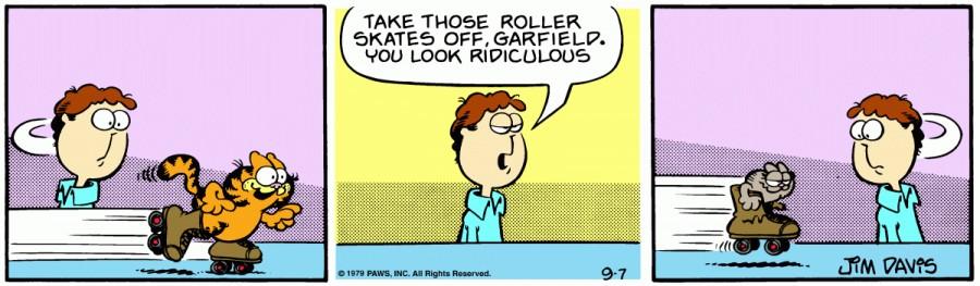 Оригинал комикса про Гарфилда от 07 сентября 1979 года