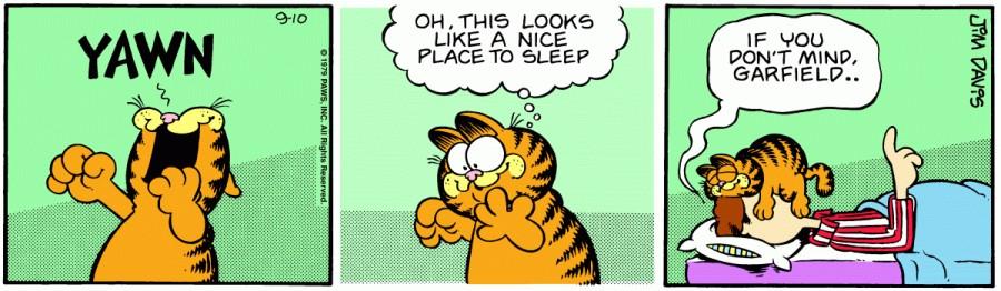 Оригинал комикса про Гарфилда от 10 сентября 1979 года