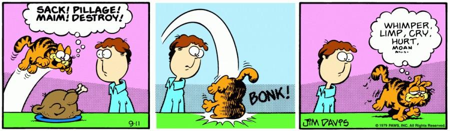 Оригинал комикса про Гарфилда от 11 сентября 1979 года