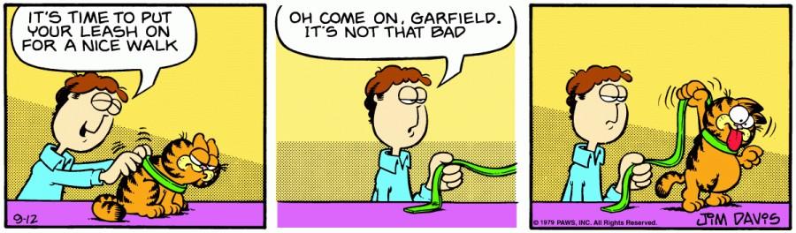 Оригинал комикса про Гарфилда от 12 сентября 1979 года