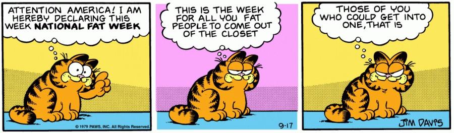 Оригинал комикса про Гарфилда от 17 сентября 1979 года