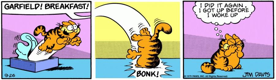 Оригинал комикса про Гарфилда от 26 сентября 1979 года