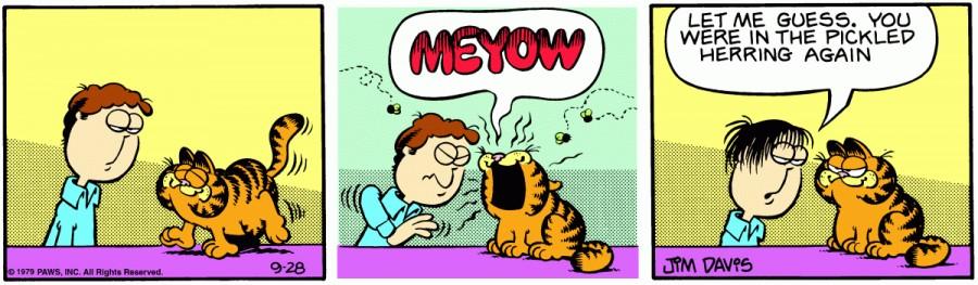 Оригинал комикса про Гарфилда от 28 сентября 1979 года
