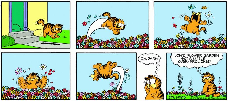 Оригинал комикса про Гарфилда от 30 сентября 1979 года