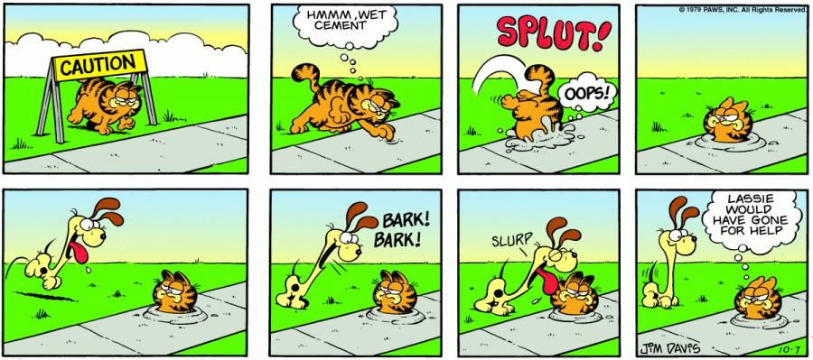 Оригинал комикса про Гарфилда от 07 октября 1979 года