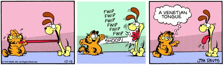 Оригинал комикса про Гарфилда от 13 октября 1979 года