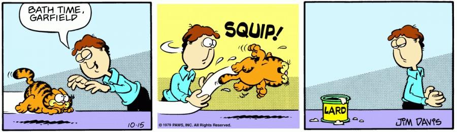 Оригинал комикса про Гарфилда от 15 октября 1979 года