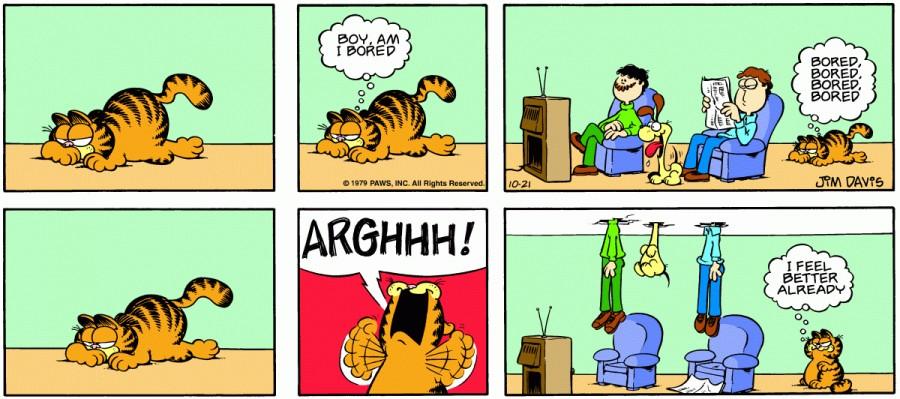 Оригинал комикса про Гарфилда от 21 октября 1979 года
