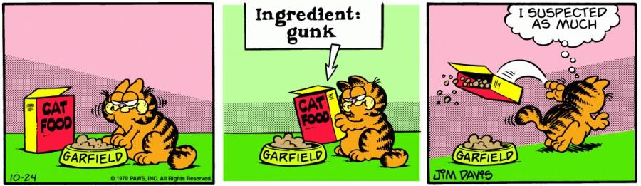 Оригинал комикса про Гарфилда от 24 октября 1979 года