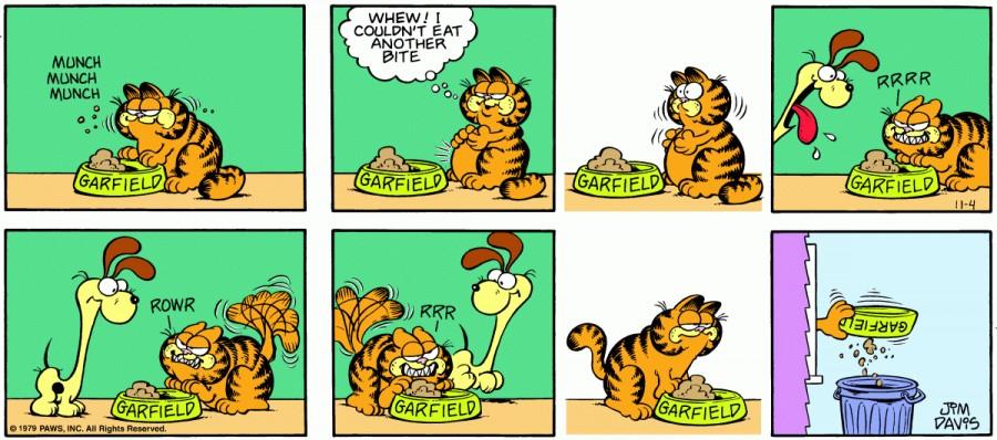 Оригинал комикса про Гарфилда от 04 ноября 1979 года