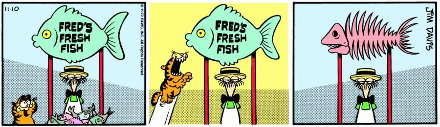 Оригинал комикса про Гарфилда от 10 ноября 1979 года