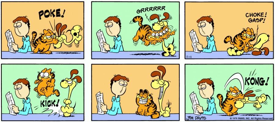 Оригинал комикса про Гарфилда от 11 ноября 1979 года