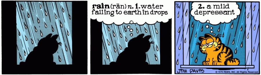 Оригинал комикса про Гарфилда от 12 ноября 1979 года