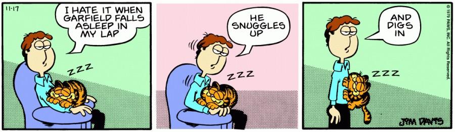 Оригинал комикса про Гарфилда от 17 ноября 1979 года
