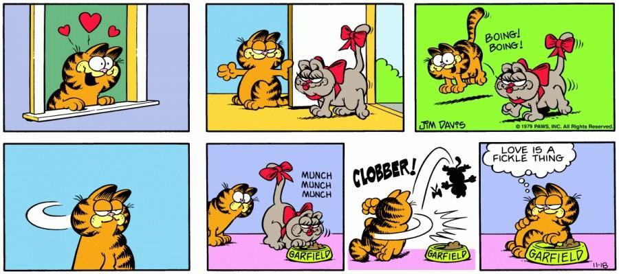 Оригинал комикса про Гарфилда от 18 ноября 1979 года